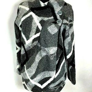 Lola Italy Wrap Sweater Jacket size L Wool